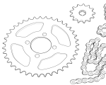 Ketten und Kettenräder Yamaha FS1   RD   DT