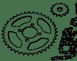 Ketten, Ritzeln und Kettenräder Honda MT, MB, MTX, NSR, MBX & MTX-SH