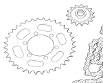 Ketten und Kettenräder Zundapp 517 | 529 | 530
