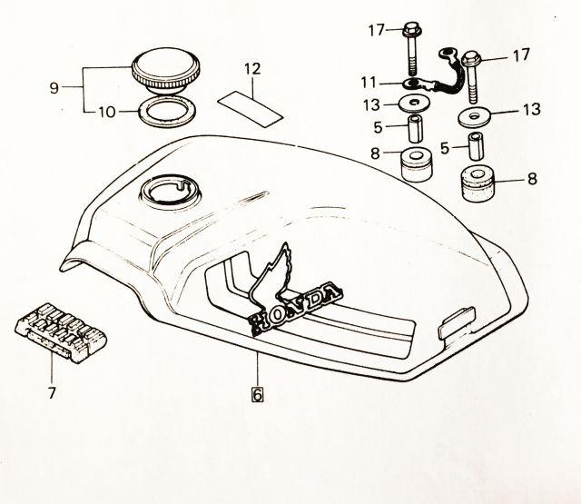 Explosionszeichnung Honda MT50