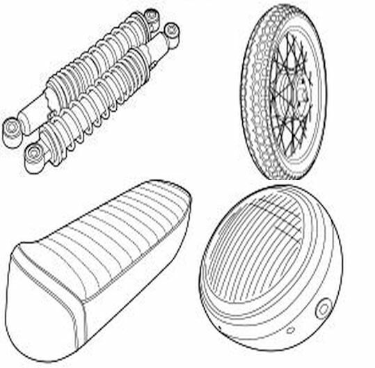 Kreidler | Reifen, Beleuchtung, Kotflügel, Buddyseats und vieles mehr.