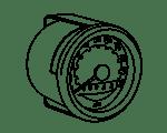 Tachometer und Drehzahlmesser Moped