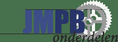 Stößdampfer Grau/Chrom Geschlossen IMCA 370MM