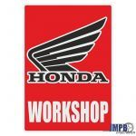 Workshop Aufkleber Honda English