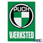 Vaerksted Aufkleber Puch Danish