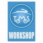 Workshop Aufkleber Tomos Blau English