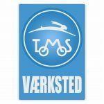 Vaerksted Aufkleber Tomos Blau Danish