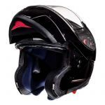 Helm System MT Atom Schwarz Glanz