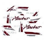 Aufklebersatz Puch Rider Macho '91 Rot