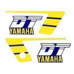 Aufklebersatz Yamaha DT50MX Gelb/Blau
