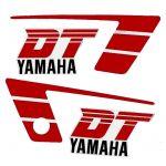 Aufklebersatz Yamaha DT50MX Rot/Weiß