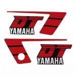 Aufklebersatz Yamaha DT50MX Rot/Schwarz