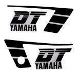 Aufklebersatz Yamaha DT50MX Schwarz/Weiß
